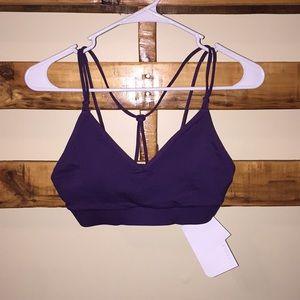 NWT Purple Fabletics light support bra